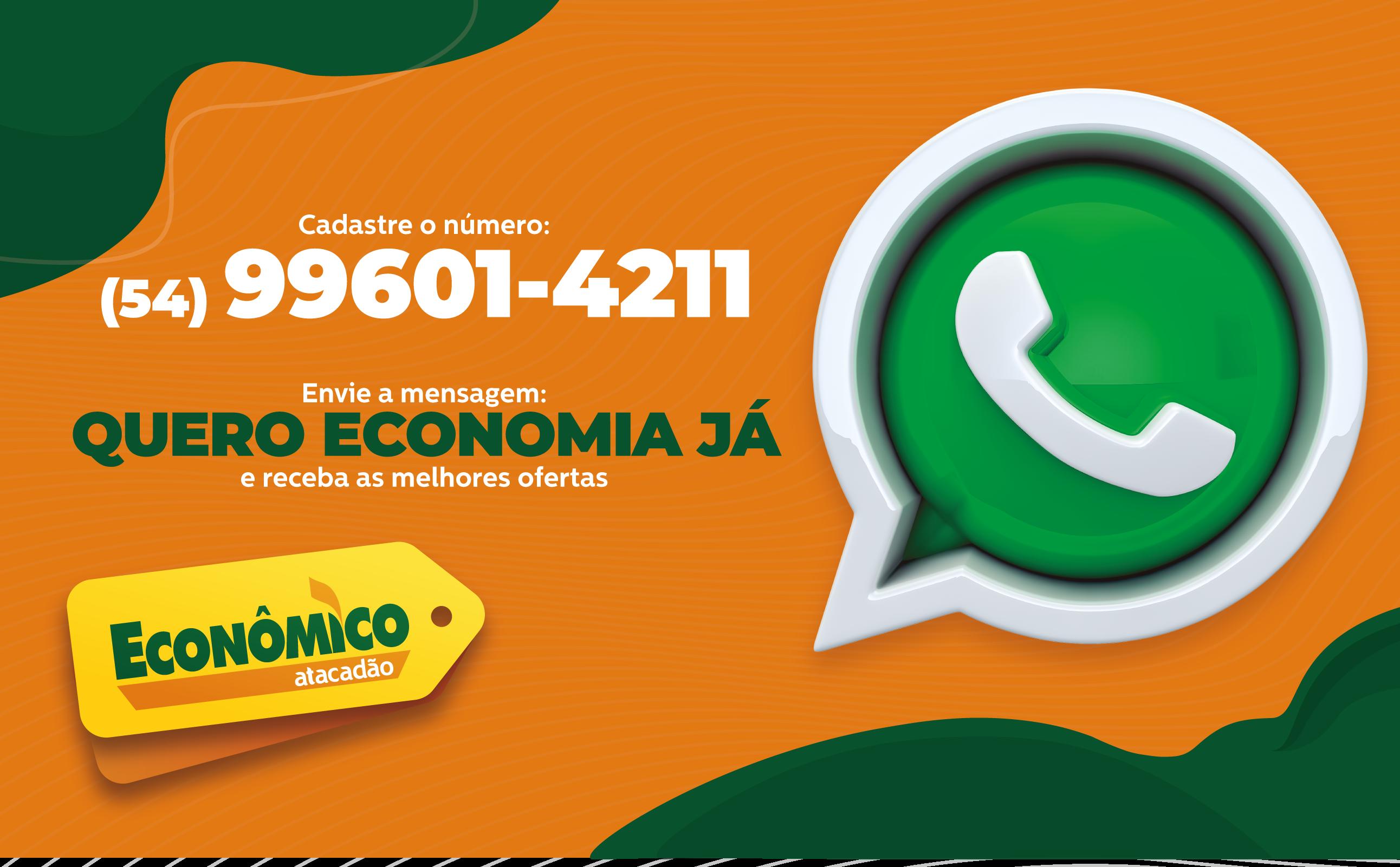 Cadastre-se no WhatsApp do Econômico Atacadão RS