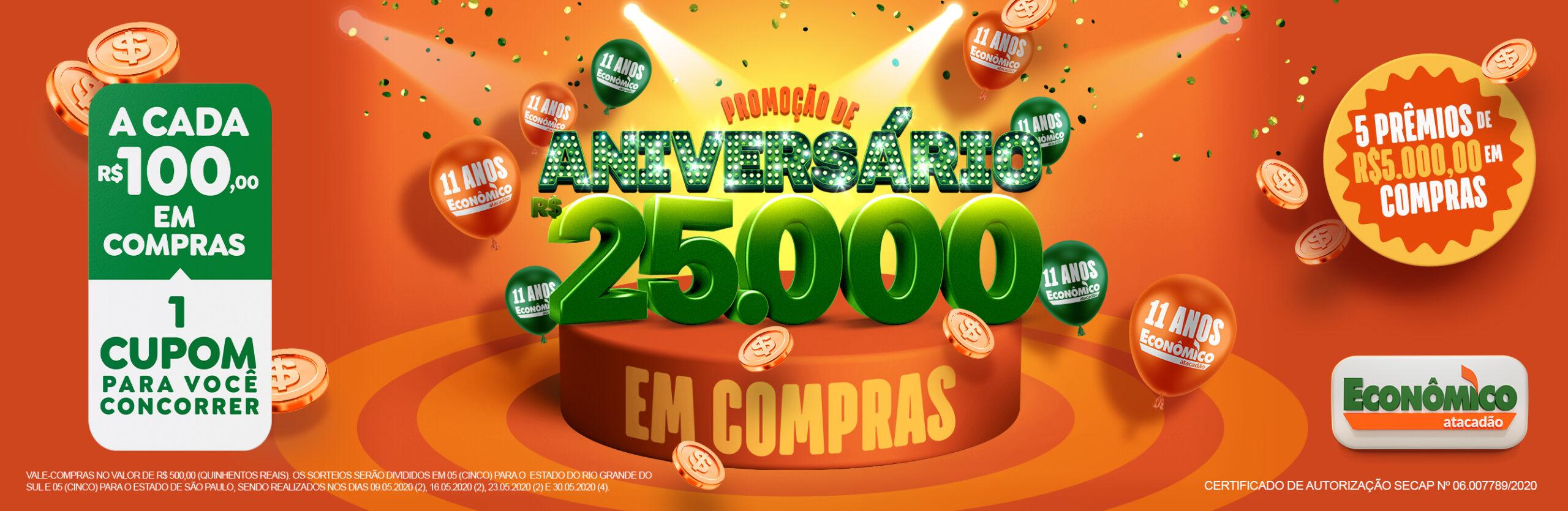 Aniversário Econômico Atacadão RS